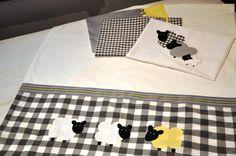 3 Little Sheep - beautiful handmade cot linen for a little boy