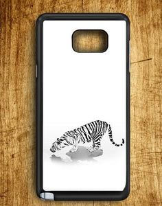 White Tiger Drink Water Samsung Galaxy Note Edge Case