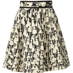 Orla Kiely Cotton Blend Skirt ($188) ❤ liked on Polyvore featuring skirts, saias, faldas, bottoms, orla kiely, zipper skirt, pleated skirt, patterned skirts and flower print skirt