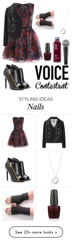 """""""Voice contestant"""" by emilyxcourtney on Polyvore featuring Miss Selfridge, OPI, Acne Studios, Tom Ford, Tiffany & Co., thevoice and YahooView"""