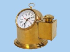 Brass Binnacle Clock 8""