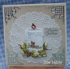 Itte tehty: Kynttilä kortissa