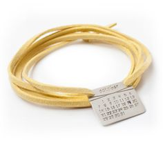 $125 Cherish a special date. Love that it's a bracelet, as opposed to the usual 'mom' necklace.