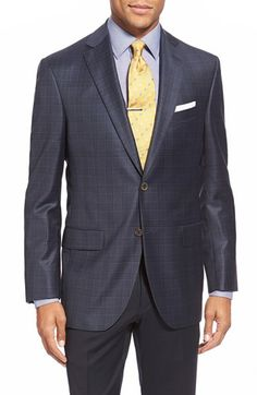 David Donahue 'Conner' Classic Fit Plaid Wool Sport Coat available at #Nordstrom