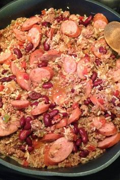 Cajun Dirty Rice ~ One of our family's all-time favorites. Make it as spicy or mild as you please. It is hearty on a cold winter's night. If you are cooking for a crowd, this recipe can easily be doubled. Be sure to serve this with cornbread! Cajun Dirty Rice Recipe, Cajun Recipes, Rice Recipes, Cooking Recipes, Cajun Food, Yummy Recipes, Dinner Recipes, Cooking Corn, Kitchens