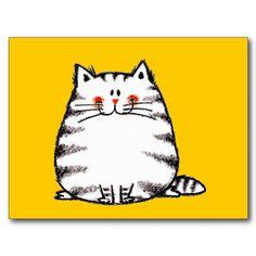 Flockige Katze Postkarten