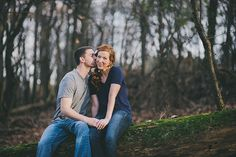 Engagement Photos in the Woods (photo: Rodger Obley Photography) | Pittsburgh Outdoor Engagement