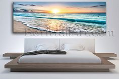 "Large Ocean Waves Seascape Photography Wall Art Print Living Room One Panel, Large Beach Wall Art, Living Room,. Large Ocean Waves Seascape Photography Wall Art Print Living Room One Panel Subject : Beach Style : Photography Panels : 1 Detail Size : 60""x20""x1 Overall Size : 60""x20"" = 152cm x 51cm Medium : Giclee Print On Canvas Condition : Brand New Frames : Gallery wrapped Availability: *Important: This is a very large size wall art, and we are not able to ship it internationally...."