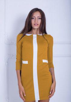 Платье Подіум Belladonna 12687-MUSTARD M