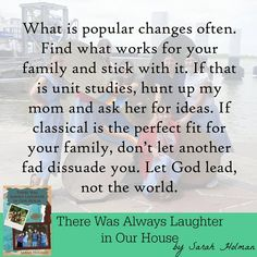 Great tips and food for thought in this upcoming release about a homeschooler and her family.  (Preorder here: https://www.amazon.com/dp/B076XP66MS ) #ThereWasAlwaysLaughter