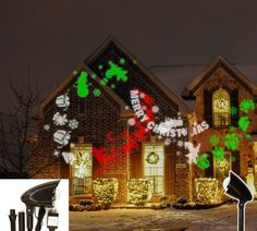 outdoor christmas led projector - Christmas Outdoor Spotlights