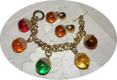 a0549205624512 Vintage DEPOSE Lucite Confetti Bauble CHARM by Irefuse2growup, $124.00