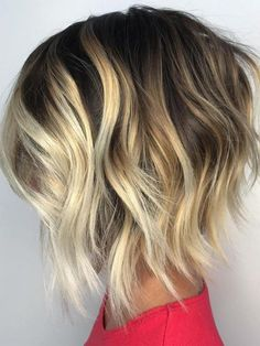 Blonde Balayage Hair Color Ideas for Angled Bob Hairstyles 2018