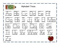 Free printable alphabet letter tracing worksheets kindergarten alphabet tracer pages for kids activity shelter spiritdancerdesigns Image collections