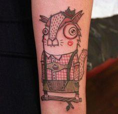 illustration tattoos by Miriam Frank, do it!