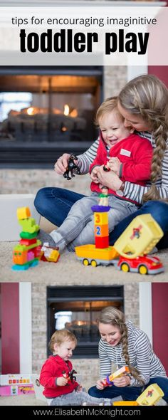 encouraging imaginative play is so important for toddlers, these activities and ideas for play time and the area where you play with your child are so helpful!