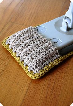"Crocheted reusable ""Swiffer."""