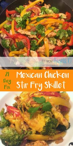 21 Day Fix Mexican Chicken Stir Fry Skillet | The Master's Hammer and Chisel | 21 Day Fix Extreme | Healthy Dinners | Paleo | Gluten Free | One Skillet Meal | FitMomAngelaD.com