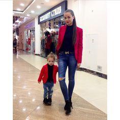 †❁ @moonshineeeeee Mother Daughter Matching Outfits, Mommy And Me Outfits, Matching Family Outfits, Girl Outfits, Mother Daughter Fashion, Mom Daughter, Mother And Child, Daughters, Fashion Moda