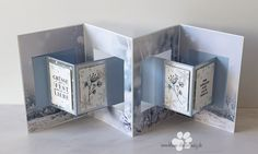 Fancy Fold Cards, Folded Cards, Stampin Up, Slider Cards, Up Book, Die Cut Cards, Origami, Decorative Boxes, Card Making