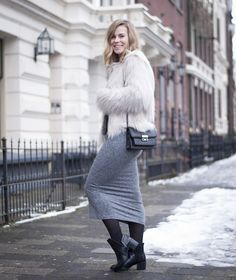 For the love of fluffy coats   Style by Jules