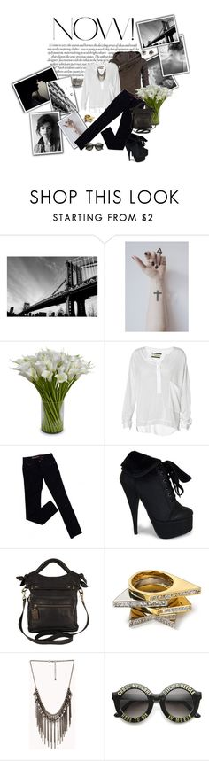 """""""I heard them calling in the distance..."""" by texas1226 ❤ liked on Polyvore featuring Été Swim, Rick Owens, New Growth Designs, By Malene Birger, GUESS, Latico, Noir, Forever 21, ZeroUV and Bijules"""