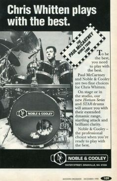 1990 small Print Ad of Noble & Cooley NC Horizon Series Drum Kit w Chris Whitten Epiphone Les Paul, Les Paul Custom, Bring Me The Horizon, Drum Kits, Paul Mccartney, Print Ads, Vintage Advertisements, Drums, Ebay