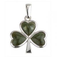 Silver Connemara Marble Shamrock Charm #Shamrock #Charm #Irish #Gift