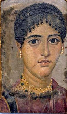 Mummy Portrait, Egypt, Fayum (El Rubiyat), 100 BC-AD 300