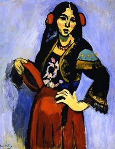 The Athenaeum - Spanish Girl with Tambourine (Henri Matisse - No dates listed)