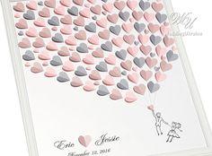 Hochzeit Gast Buch Ideen hell rosa hellrosa und von WeddingUkraine