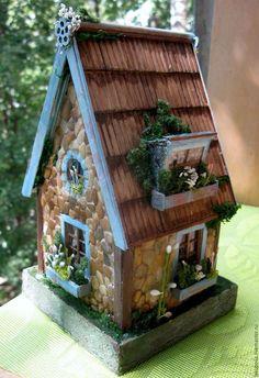 Кукольный дом ручной работы. Ярмарка Мастеров - ручная работа. Купить Домик для минисадика. Handmade. Комбинированный, дерево, оргстекло