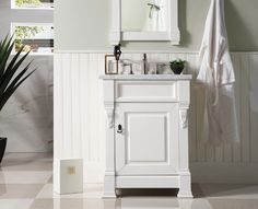 "26"" Brookfield Cottage White Single Bathroom Vanity – VANITIES EXPO"