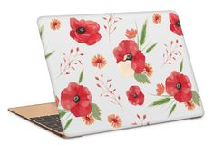 Poppies Macbook Case by NJsBoutiqueCo on Etsy Mac Skins, Macbook Case, Poppies, Apple, Unique Jewelry, Handmade Gifts, Cute, Wallpapers, Vintage