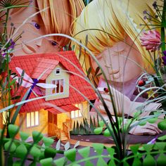 Childhood by People Too , via Behance (An incredible piece made entirely of cut paper!)