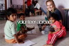 looking for something to do this summer? rustic pathways offers a ton of amazing volunteer abroad trips in foreign countries such as thailand, ghana, india and costa rica! work at orphanages, help. Bucket List For Girls, Bucket List Ideas Before I Die, Volunteer Abroad, Volunteer Work, Life List, One Day I Will, Travel List, Travel Jobs, Travel Ideas