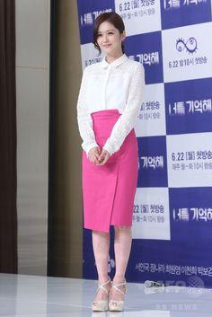 韓国・ソウルの Seoul Times Square で行われた、韓国放送公社(KBS)の新ドラマ「君を覚えてる 너를 기억해 Hello Monster」の制作発表会に臨む、女優のチャン・ナラ(2015年6月16日撮影)。(c)STARNEWS ▼19Jun2015AFP 新ドラマ「君を覚えてる」の制作発表会、ソウルで開催 http://www.afpbb.com/articles/-/3052205 #장나라 #張娜拉 #张娜拉 #Jang_Na_ra #チャンナラ #Чан_Нара จัง นารา