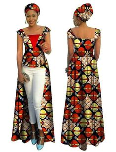 BRW African Print Bazin Riche Dress for Women Vetements Africain Femme Cotton Casual Office Long Dresses Plus Size African Dresses For Women, African Wear, African Fashion Dresses, Traditional Jacket, Ankara Jackets, African Print Clothing, Casual Office, Long Dresses, Jackets For Women
