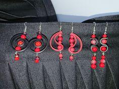 Red earrings.