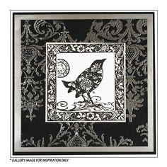 Crafty Individuals CI-180 - 'Venezia Bird' Art Rubber Stamp, 75mm x 75mm - Crafty Individuals from Crafty Individuals UK