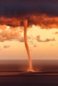 Orange Sky. Tornado in the Gulf of Genoa, Liguria, Italy • EXTEND YOUR LIFE > http://www.foreverhealthywater.com/