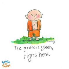 The grass is green ☺ right here.