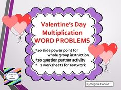 This product has several things to offer: 1.  a 10 page slide show with multiplication word problems for    students to read and solve using the strategies they have been studying in class 2.  a partner activity with 20 different word problems (answer key for this is included) 3.  2 follow-up worksheets with answer keys  This product is in PDF form to preserve the quality and format of the slides.