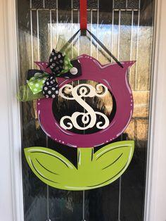 A personal favorite from my Etsy shop https://www.etsy.com/listing/494592422/monogram-door-hanger-flower-door-hanger
