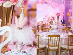 Tamara's Swan Lake Themed Party – Table centerpiece