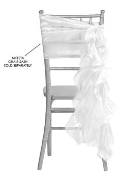 Curly Willow Chair Sash - White (new design) • As low as $1.68