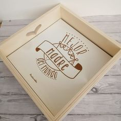 Bandeja dia de la madre Tray, Packaging, Creative, Pandora, Gifts, Home Decor, The World, Wood Interiors, Wooden Serving Trays