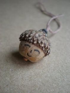 Fall diy acorn necklace