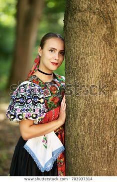 Slovakian Folklore Traditional Costume: stock fotografie (k okamžité úpravě) 703937314 Marceline, Popular, Culture, Costumes, Traditional, Gallery, Photography, Beauty, Woman
