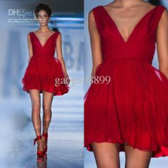 Cheap Party Dresses - Discount 2014 New Mini Short Red Party Dresses Sexy Online with $65.19/Piece | DHgate